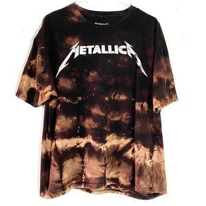 Metallica Custom Ombre Bleached Rock T-shirt XXL